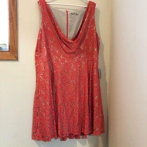 Eliza J Coral lace dress